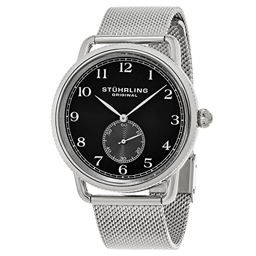 Stührling Original 207M.02 - Reloj analógico para hombre, correa de acero inoxidable, color plateado