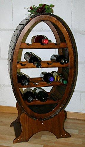 Massivholz Weinregal Flaschenregal Weinfass 14 Flaschen Holz Fichte massiv kolonial