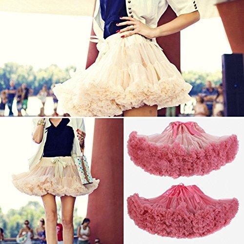 SCFL adulti lussuosa Tutu Petticoat Costume Balletto di ballo multi-strato morbido chiffon sottogonna in tulle tutu delle donne Gonna Gonna Puffy Rosso