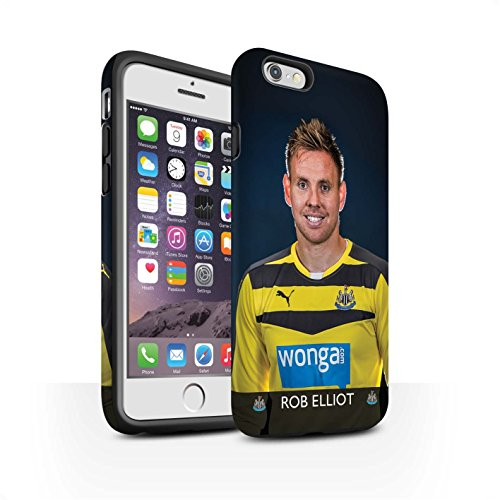 Offiziell Newcastle United FC Hülle / Matte Harten Stoßfest Case für Apple iPhone 6 / Pack 25pcs Muster / NUFC Fussballspieler 15/16 Kollektion Elliot