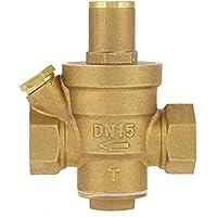 """GLOGLOW Válvula reguladora de presión, latón regulador Ajustable de reducción de presión de Agua Rosca DN15 1/2""""para Travel Camper"""