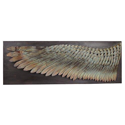 Design Toscano Der Flügel des Ikarus, Skulpturales Wandfries aus Metal, Maße: 6,5 x 36,5 x 34,5 cm