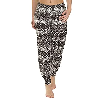 Love My Fashions Womens Pants Trousers Alibaba Harem Ankle Cuff, Large Aztec Print, XX-Large/XXX-Large