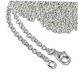 SilberDream 925 Sterling Silber Charm Halskette 90cm Kette für Charms Armband Anhänger FC00289-1