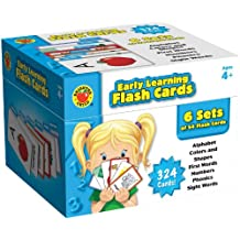 Brighter Child Early Learning Flash Cards: Alphabet, Colors and Shapes, First Words, Numbers, Phonics, Sight Words