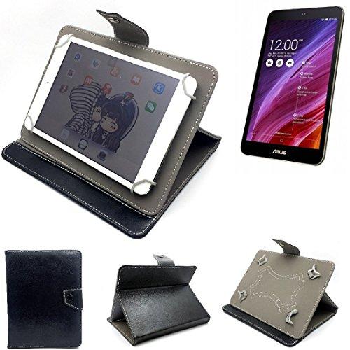 K-S-Trade Schutz Hülle Tablet Case für ASUS Prosieben Entertainment Pad, schwarz. Tablet Hülle mit Standfunktion Ultra Slim Bookstyle Tasche Kunstleder