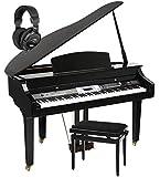 Classic Cantabile GP- 500 Piano à queue noir brillant set banc + écouteurs inclus