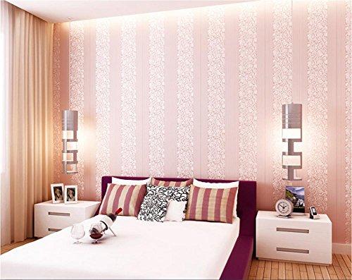 H&M Selbstklebende Tapete dickere moderne Art 3D einfache Vliespapier Einfarbige Tapete Dekoration Wohnzimmer Restaurant TV Wand Kinderzimmer Kaffeehaus Bekleidungsgeschäft Tapete (53 cm (W , pink
