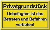 Schild Privatgrundstück B.400xH.250mm Kunststoff gelb/schwarz