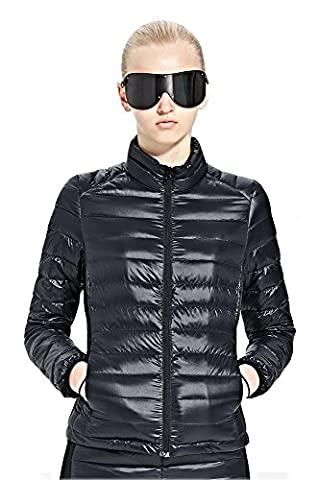 Skywards Doudoune sport mode Femme veste d'hiver – Blouson ou Doudoune chaude courte à la mode - doudoune Léger de Ski et Montagne et Alpinisme - doudoune chic fine pour femme- Haute qualité (L,