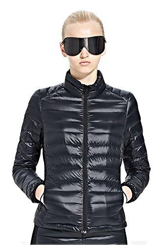 HUKOER-Chaqueta-de-pluma-de-Invierno-plumn-para-mujer-Compresible-Ligero-Acolchada-terciopelo-de-pato-abrigo-chaqueta-abajo-Negro-L
