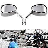 10mm Chrom Motorrad Lenker Rückseiten spiegel Für Honda Shadow Kawasaki Suzuki Chopper Roller