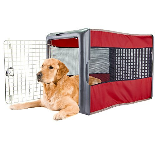 Large Pop Crate Red - Dog House Dogs Cats Houses Kennel Crate Play Pen Igloo Outdoor Indoor - Sale! by Sportpet