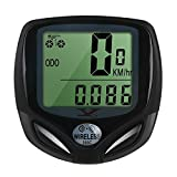 Bike Computer Wireless Waterproof Cycling Computer Automatic Wake-up Multifunctions Bicycle Speedometer and Odometer with Backlight LCD Display-Tracking Distance Avs Speed Time