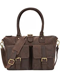 LEABAGS San Diego sac cabas rétro-vintage en véritable cuir de buffle