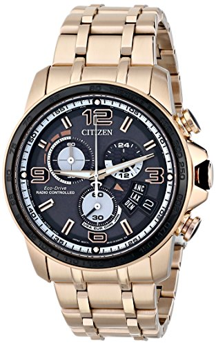 Citizen Eco-Drive Chrono Time A-T Stainless Steel - Rose-Gold Men's watch #BY0108-50E