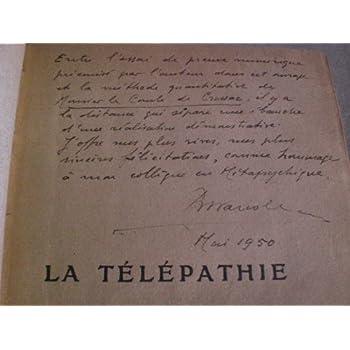 La Télépathie, recherches expérimentales, par R. Warcollier,... Préface de M. le professeur Ch. Richet