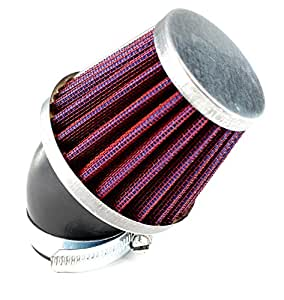 K&N Style Performance Air Filter 48mm Red Angled Neck For Pit Bikes & Motorbikes