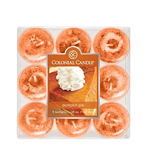 Colonial Candle Pumpkin Pie Tealights, Set of 9