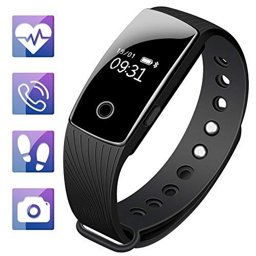 Mpow - Smart Braccialetto Fitness Tracker di attività con cardiofrequenziometro, Bluetooth, contapassi,...