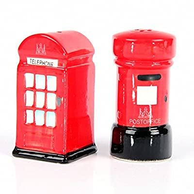 Ceramic London Salt & Pepper Set, Post & Telephone Box. A perfect gift for that Birthday Gift, Christmas Present or Fathers day gifts etc...