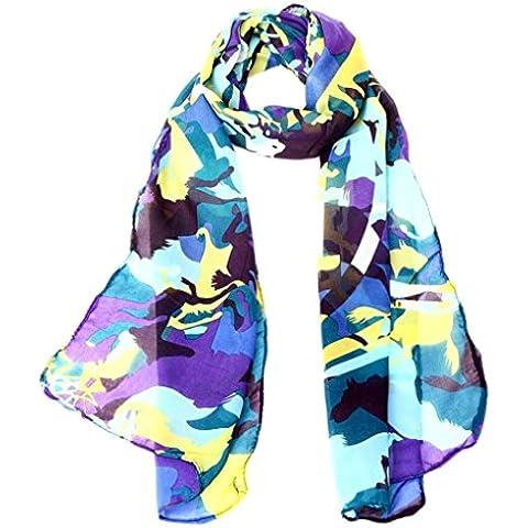 Sciarpa Donna , Fulltime Donne chiffon involucro elegante scialle leggero chiffon sciarpa (Scialle Pattern Maglia)