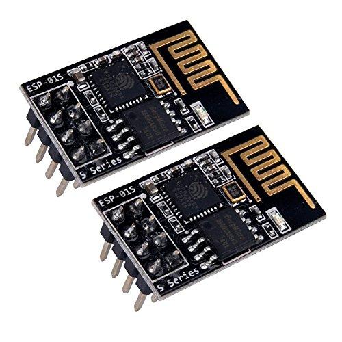 IZOKEE 2Stück Aufgerüstet ESP8266 ESP-01S Serial WIFI Wireless Transceiver Modul mit 1MB Flash Unterstützung LWIP AP+STA für Arduino UNO R3 Mega2560 Nano Raspberry Pi