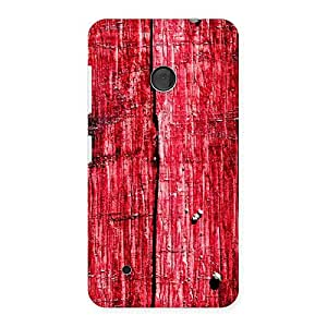 Red Wood Fenced Back Case Cover for Lumia 530