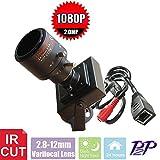 GMM Wired 2Mp 1080P Mini Ip Box Cámara Cámaras De Vigilancia De Vídeo En Red De Cámara De Red Con 2.8-12Mm Varifocal Lens