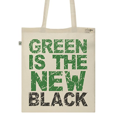Tote Bag Imprimé Ecru - Toile en coton bio - Green is the new black