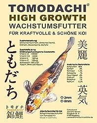 Koifutter, Wachstumsfutter Koi, Energie Koifutter, Grower, Schwimmfutter, Aufzuchtfutter Koi mit arktischem Fischmehl und Fischöl, hohe Futterverwertung, geringe Wasserbelastung, High Growth 5kg 6mm