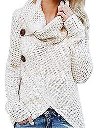 Marlene Frauen Langarm Pullover Damen Button Strickwaren Mode Sweatshirt Tops Strick Shirt Rundkragen Herbst Winter Bluse Shirt