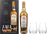 Arran 10 Years Old Single Malt Scotch Whisky with Glasses Gift Set, 70 cl from ARRAN