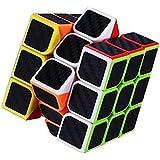 SUPER DEAL BAZZAR STORE High Speed Carbon Fiber Sticker 3x3 Neon Colors Magic Rubik Cube