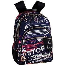 Montichelvo Montichelvo Double Backpack A.O. CMP Leeds Bolsa Escolar, 43 cm, (Multicolour)