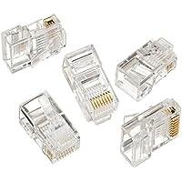 Maclean - Mctv-663 - Conector Solido rj45 Cat-5 e (8p8c) (100 Piezas Cada Paquete)