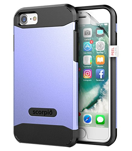 """iPhone 7 Case (Scorpio R5) Premium Protection Cover w/ Screen Guard - iPhone 7 4.7"""" (Champagne Gold) Periwinkle"""