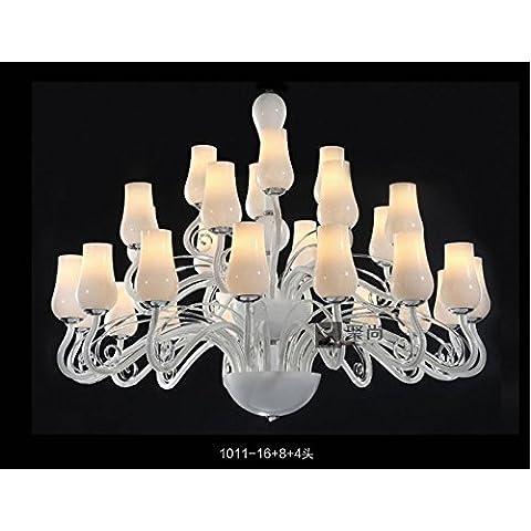 SJUN—Lampadari In Vetro Di Stile Europeo Salone Minimalista Moderno Lampadario Moda Camera Da