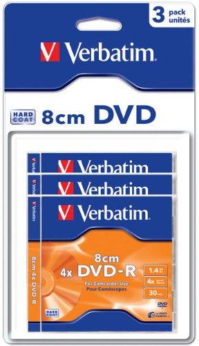 Verbatim DVD-R 8cm Matt Silver Hardcoated 1.4GB DVD-R