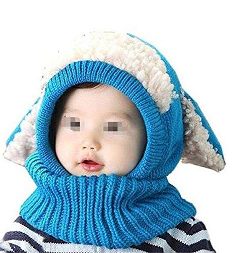 AOGD Winter Wolle Gestrickte Hüte Baby Mädchen Schals Kapuze Mönchskutte Beanie Mützen Cape Mantel Welpen Stil Warmen Schal Kragen Kindermützen