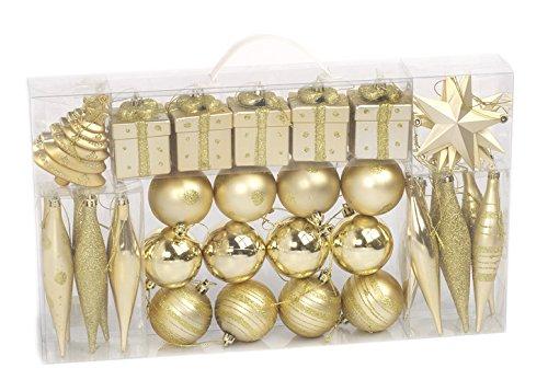 Brauns Heitmann 71982 - Juego de adornos de Navidad, diseño con purpurina,...