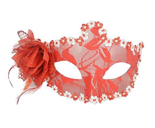 westeng westeng von venezianischen Attraktive Frauen Maske schwarze Spitze Augenmaske für Halloween Maskerade Karneval Party Maske Tanz (rot) (Hausgemachte Kostüme Für Erwachsene)