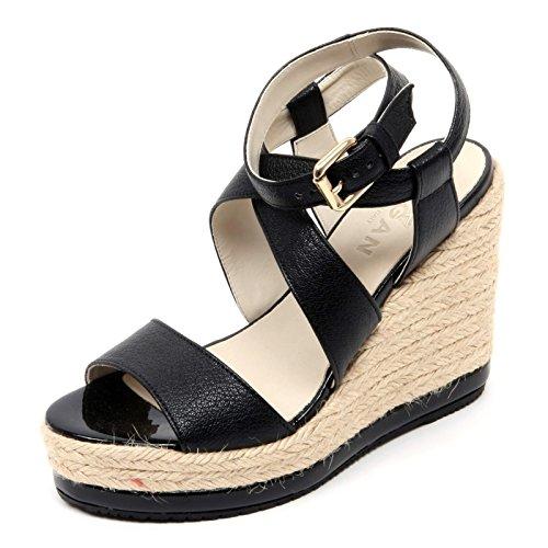 Hogan B0640 Sandalo Donna Zeppa yuta Nero Shoe Sandal Woman [36]