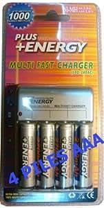 Batterie Chargeur Avec Piles compatible E-FORCE AAA NiMh - 1000mAh