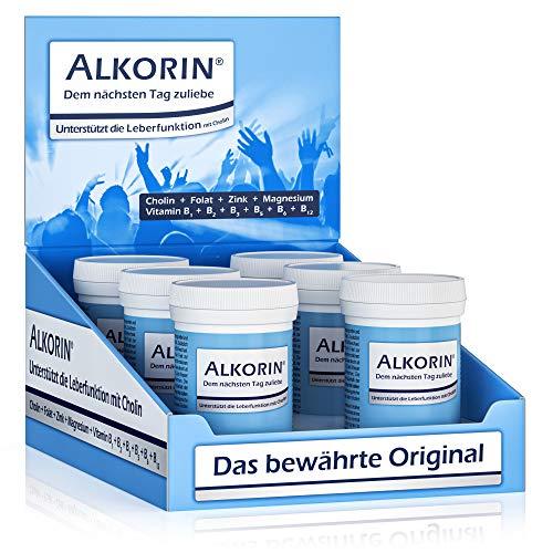 ALKORIN dem nächsten Tag zuliebe. Unterstützt die Leberfunktion mit Cholin. Multivitamin Basenpulver mit Magnesium, Zink, Folsäure, Elektrolyten und Vitamin B-Komplex B1 + B2 + B3 + B5 + B6 + B12 -