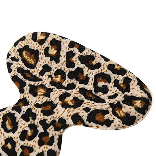 MagiDeal Ein Paar T-Form Absatzschuhe Einlegesohlen, Pads - Selbstklebend, Komfort und Schmerzenreduzierung Leopard