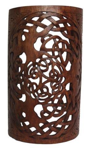 windalf lámpara celta Mundos ygddrasil H: 48cm mano de madera