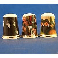 PORCELAINE FINE à collectionner dés à coudre Lot de trois couvertures de Beatles LP