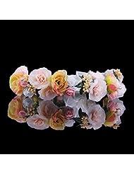 Olici MDRW-Tocado Nupcial De La Horquilla del Salón De Bodas Flores y guirnaldas de