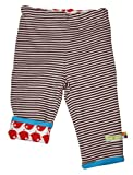 loud + proud Unisex - Baby Hose, gestreift 444, Gr. 62/68, Braun (chocolate)